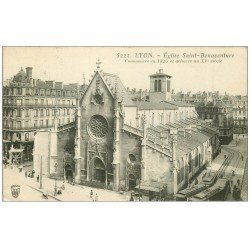 carte postale ancienne 69 LYON. Eglise Bonaventure 1910