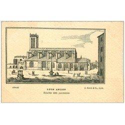 carte postale ancienne 69 LYON. Eglise des Jacobins