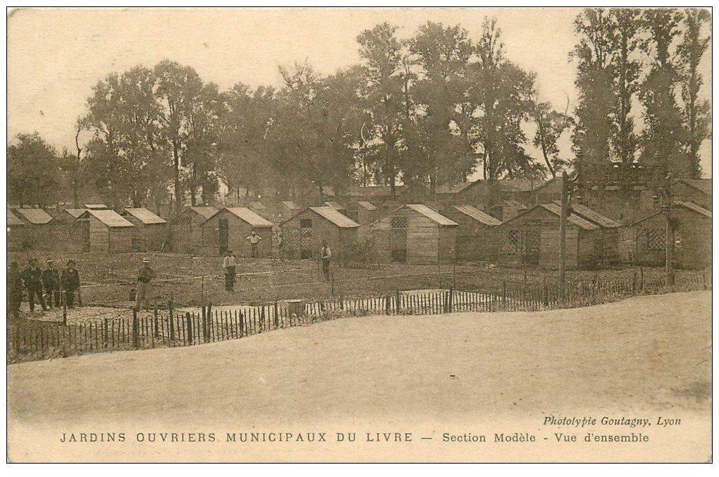 69 Lyon Rare Jardins Ouvriers Municipaux Du Livre Section Modelea