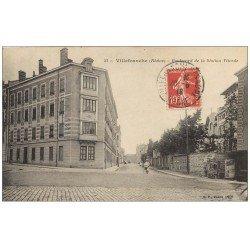 carte postale ancienne 69 VILLEFRANCHE-SUR-SAÔNE. Boulevard Station Viticole 1918