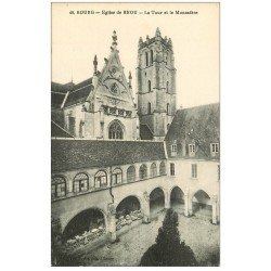 carte postale ancienne 01 BOURG. Eglise de Brou. Tour et Monastère