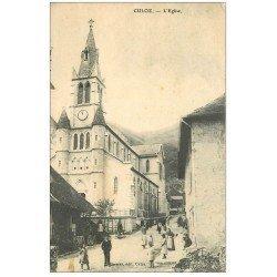 carte postale ancienne 02 CULOZ. L'Eglise 1908 (défaut)...