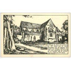 carte postale ancienne 72 ABBAYE DE L'EPAU