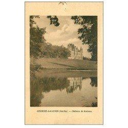 carte postale ancienne 72 CHEMIRE-LE-GAUDIN. Château de Resteau 1935