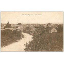 carte postale ancienne 72 CONLIE. Entrée du Village 1937