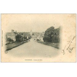 carte postale ancienne 72 CONNERRE. Avenue de Paris 1905