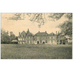 carte postale ancienne 72 COULOMBIERS. Château de Moire 1909