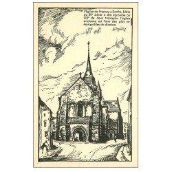 carte postale ancienne 72 FRESNAY-SUR-SARTHE. L'Eglise
