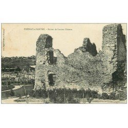 carte postale ancienne 72 FRESNAY-SUR-SARTHE. Ruines Château