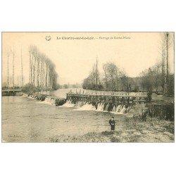 carte postale ancienne 72 LA CHARTRE-SUR-LE-LOIR. Barrage de Roche Marie 1908