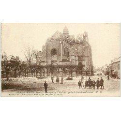 carte postale ancienne 02 ESSOMES. Ruines de l'Eglise après bombardement