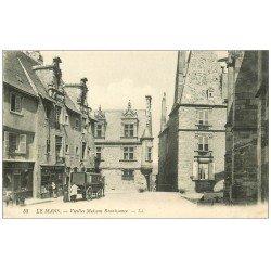 carte postale ancienne 72 LE MANS. Attelage livraison devant Maison Boucler Lesage