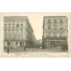 carte postale ancienne 72 LE MANS. Café de l'univers Rue Dumas 1904 Grand Hôtel