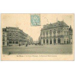 carte postale ancienne 72 LE MANS. Caisse d'Epargne Boulevard Levasseur 1904