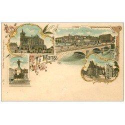 carte postale ancienne 72 LE MANS. Carte Pionnière vers 1900