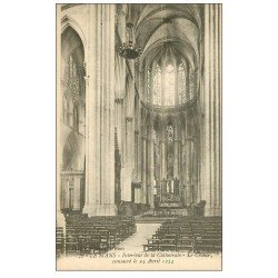 carte postale ancienne 72 LE MANS. Cathédrale Choeur