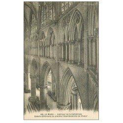 carte postale ancienne 72 LE MANS. Cathédrale Galerie déambulatoire