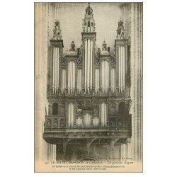 carte postale ancienne 72 LE MANS. Cathédrale Grandes Orgues