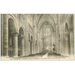 carte postale ancienne 72 LE MANS. Cathédrale Saint-Julien. La Grande Nef