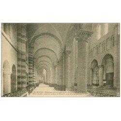 carte postale ancienne 72 LE MANS. Cathédrale Saint-Julien. La Nef bas-côté