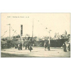 carte postale ancienne 14 CAEN. Baptême du Thiobé vers 1900