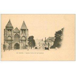 carte postale ancienne 72 LE MANS. Eglise Notre-Dame de la Couture vers 1900