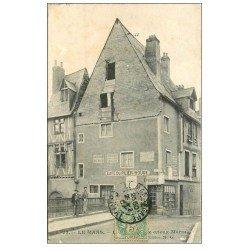 carte postale ancienne 72 LE MANS. Epicerie Café du Pilier Rouge 1907