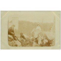 carte postale ancienne 14 CAEN. Carte Photo rare 1909
