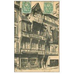 carte postale ancienne 14 CAEN. Compagnie Française de Gramophone rue Saint-Jean