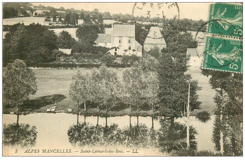 carte postale ancienne 72 SAINT-LEONARD-DES-BOIS. 1916