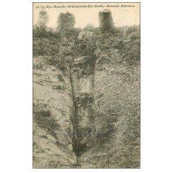 carte postale ancienne 72 SAINT-LEONARD-DES-BOIS. Anciennes Ardoiseries 1923
