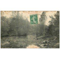carte postale ancienne 72 SAINT-LEONARD-DES-BOIS. Bords Sarthe 1909