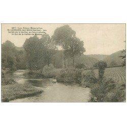 carte postale ancienne 72 SAINT-LEONARD-DES-BOIS. Col Vallée de la Misère