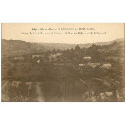 carte postale ancienne 72 SAINT-LEONARD-DES-BOIS. Colline du Déluge et Saint-Laurent