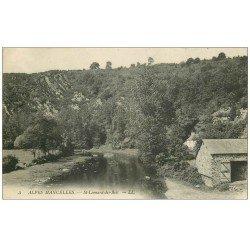 carte postale ancienne 72 SAINT-LEONARD-DES-BOIS. Corps de Ferme 1914