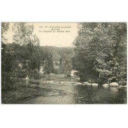 carte postale ancienne 72 SAINT-LEONARD-DES-BOIS. Enfant sur Chapelet du Moulin Neuf