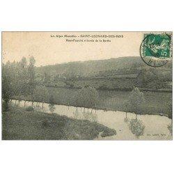 carte postale ancienne 72 SAINT-LEONARD-DES-BOIS. Le Haut-Fourché et Sarthe 1910
