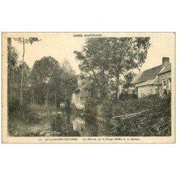 carte postale ancienne 72 SAINT-LEONARD-DES-BOIS. Moulin Forge Collet