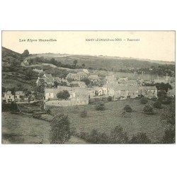 carte postale ancienne 72 SAINT-LEONARD-DES-BOIS. Panorama