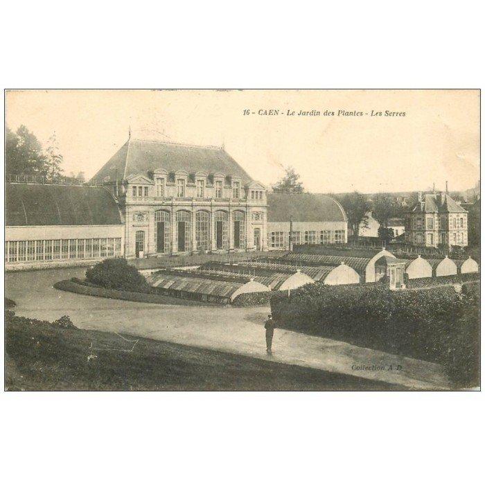 14 caen les serres du jardin des plantes 1916 - Le jardin des plantes caen ...