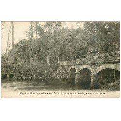 carte postale ancienne 72 SAINT-LEONARD-DES-BOIS. Pont de la Folie
