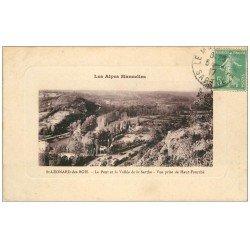 carte postale ancienne 72 SAINT-LEONARD-DES-BOIS. Pont et Vallée Sarthe 1917