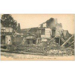 carte postale ancienne 02 FAUBOURG DE VAUX. Le Carrefour de Vaux