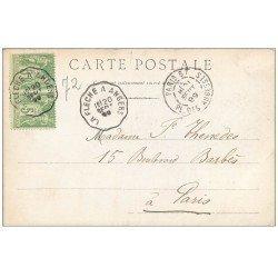 carte postale ancienne 72 SOLESMES. 1899 Les Marbreries 1899