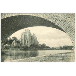 carte postale ancienne 72 SOLESMES. Abbaye sous le Pont