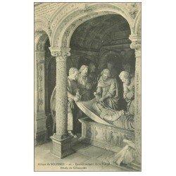 carte postale ancienne 72 SOLESMES. Ensevelissement Vierge