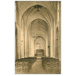carte postale ancienne 72 SOLESMES. Nef Eglise