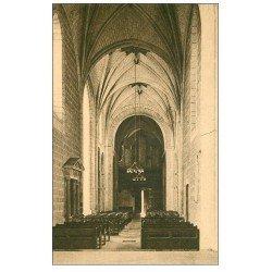 carte postale ancienne 72 SOLESMES. Nef Eglise 11