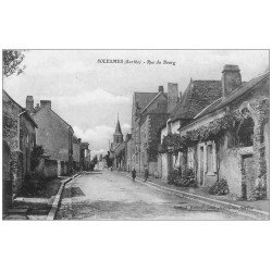 carte postale ancienne 72 SOLESMES. Rue du Bourg