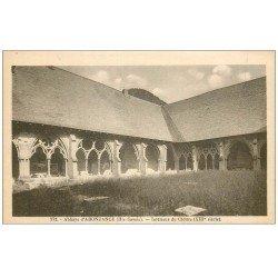 carte postale ancienne 74 ABONDANCE. Abbaye Cloître